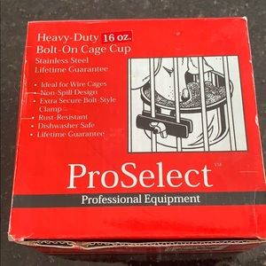 Pro select heavy duty 16oz bolt on cage cup